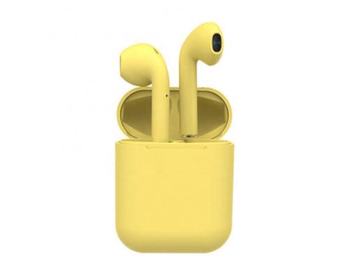 Беспроводные наушники Inpods 12 Macaron Bluetooth v5.0, желтый