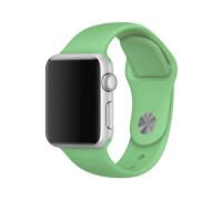 Ремешок для Apple Watch 38 - 40 мм силиконовый светло зеленый