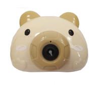 """Детский генератор мыльных пузырей в виде фотокамеры """"Свинка"""", цвет коричневый"""
