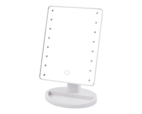Косметическое зеркало с подсветкой, белый